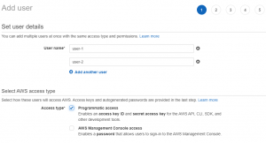 Adding Multiple Users to AWS