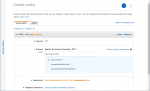Creating an AWS Policy to Assume a Role